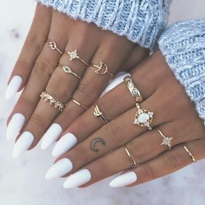 🌞SUMMER SALE🌞 Set of 13 Gold tone bohemian rings